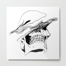 Skull #2 (Liquify) Metal Print