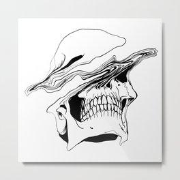 Skull (Liquify) Metal Print