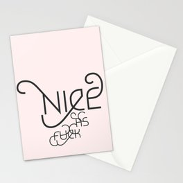 Nice as Fuck Stationery Cards