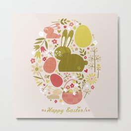 Easter (Grey) Metal Print