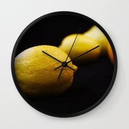 lemon photo // lemon picture // lemon harvest Wall Clock