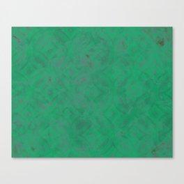 Geometric Greens Canvas Print