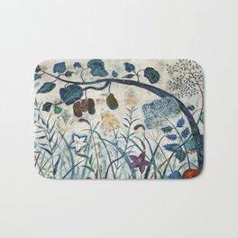 nature【Japanese painting】 Bath Mat