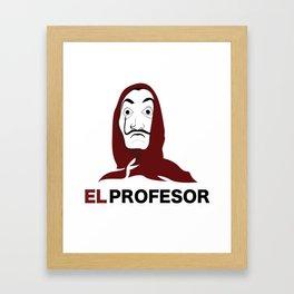 LA CASA DE PAPEL tee shirt El Profesor Framed Art Print