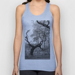 Withered Oaks in Black & White Unisex Tank Top