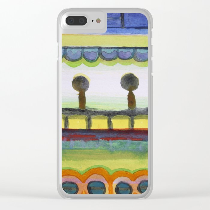 The Seaside Promenade Clear iPhone Case