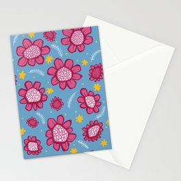 Pop Flowers pink Stationery Cards
