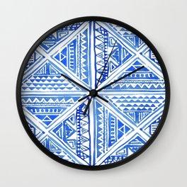 Geo tile art Wall Clock