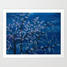 Spring Night Blues II Art Print