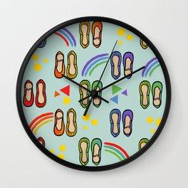 ballet and rainbows Wall Clock