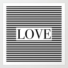 Monochromatic Love Art Print