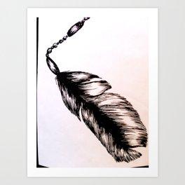 Feather. Art Print