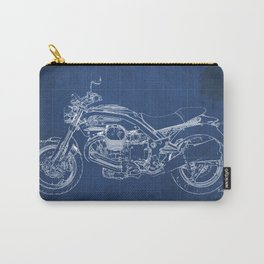 2010 Moto Guzzi Griso1200 8V, motorcycle blueprint, blue poster,milimiter,original poster,giftforhim Carry-All Pouch