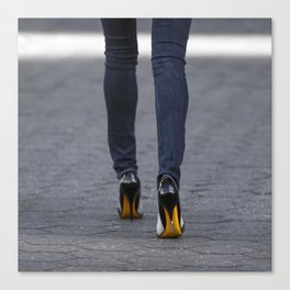 Excess Yellow Canvas Print