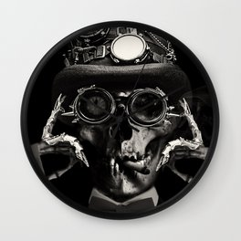 'Steampunk Deceased' Wall Clock