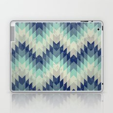 Chevron pattern_Blue Laptop & iPad Skin