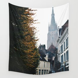 On the Streets of Bruges Wall Tapestry
