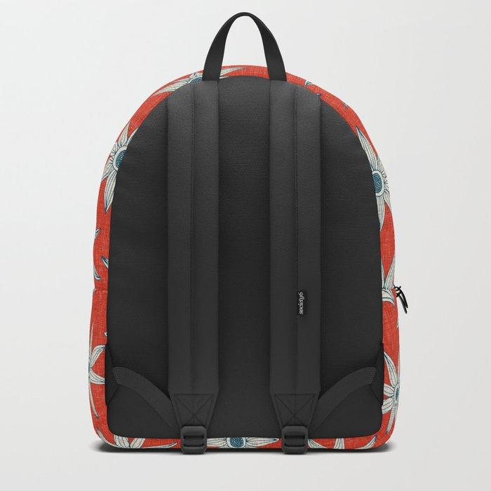 sema fire orange blue Backpack