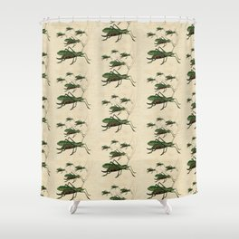 Grasshoppers on the March Shower Curtain