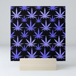 Marijuana Violet Blue Weed Mini Art Print