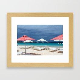 Umbrella time Framed Art Print