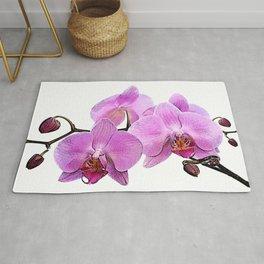 orchid flower minimalist minimal Rug