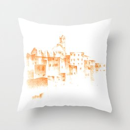 Piazza Del Campo in Siena Throw Pillow