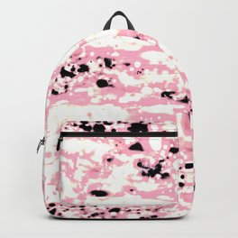 Lava Pattern Abstract Rosé and White Backpack