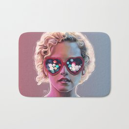 Electrick Girl Bath Mat