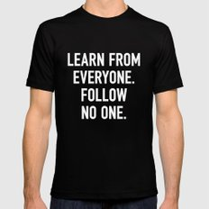 Learn from Everyone Black SMALL Mens Fitted Tee