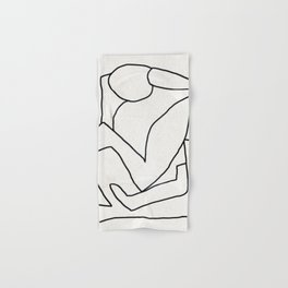 Abstract line art 2 Hand & Bath Towel