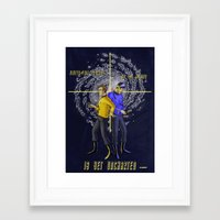 uncharted Framed Art Prints featuring Uncharted by bravinto