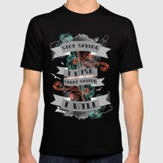 Stop Saying I Wish... MEDIUM Black Mens Fitted Tee