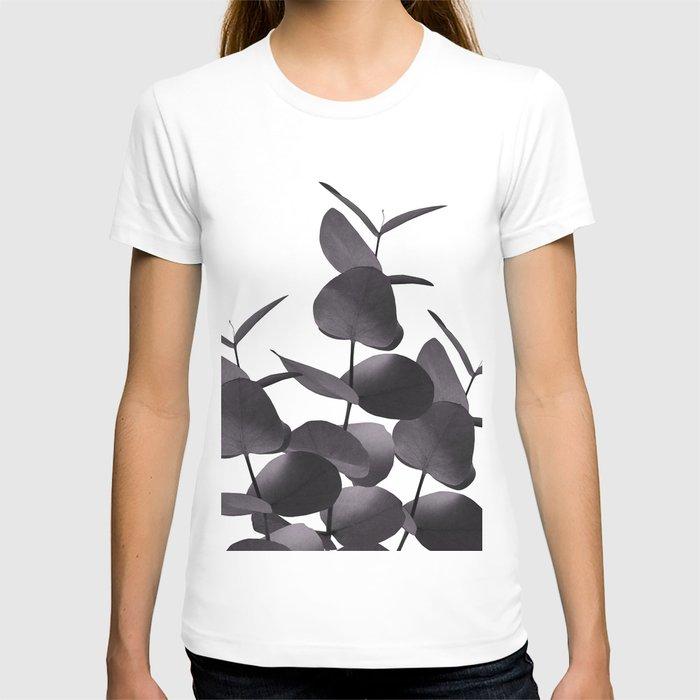 Eucalyptus Leaves Black White #1 #foliage #decor #art #society6 T-shirt