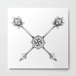 Ornate Arrows Metal Print