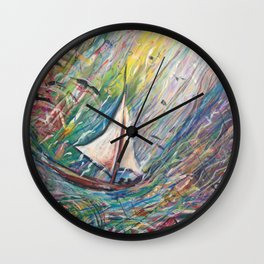 A boat for two Wall Clock