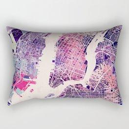 New York Mosaic Map #1 Rectangular Pillow