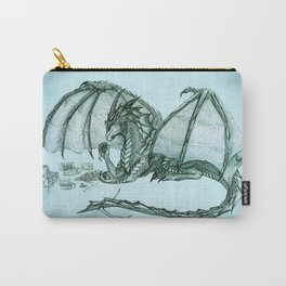 """""""Material Girl"""" by Amber Marine ~ (Sea Mist Version) Graphite Dragon Illustration, (Copyright 2005) Carry-All Pouch"""