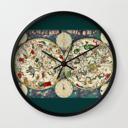 Pictorial Map of the Constellaions Wall Clock