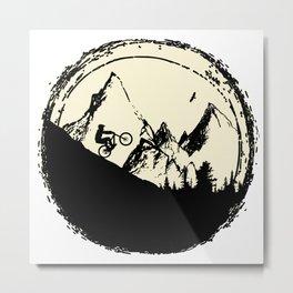 Moon MTB Metal Print