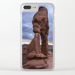 Stormy Sunset - Delicate Arch - Moab - Utah Clear iPhone Case