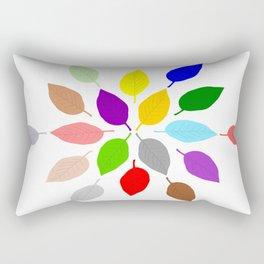 Coloured Leaves Design Rectangular Pillow