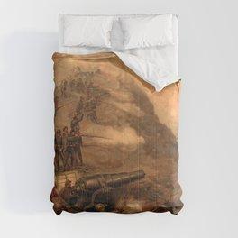 Civil War Capture of Fort Fisher by J.O. Davidson Comforters