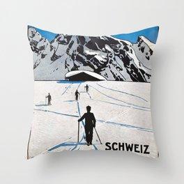 Wintersports Throw Pillow
