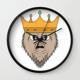 Gorilla king Wall Clock