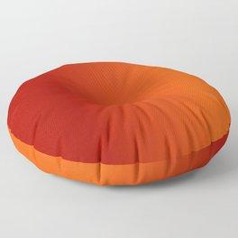 Ombre in Red Orange Floor Pillow