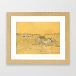 Willard Beach Fishing Shacks Framed Art Print