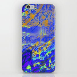 i-te-0003-blue iPhone Skin