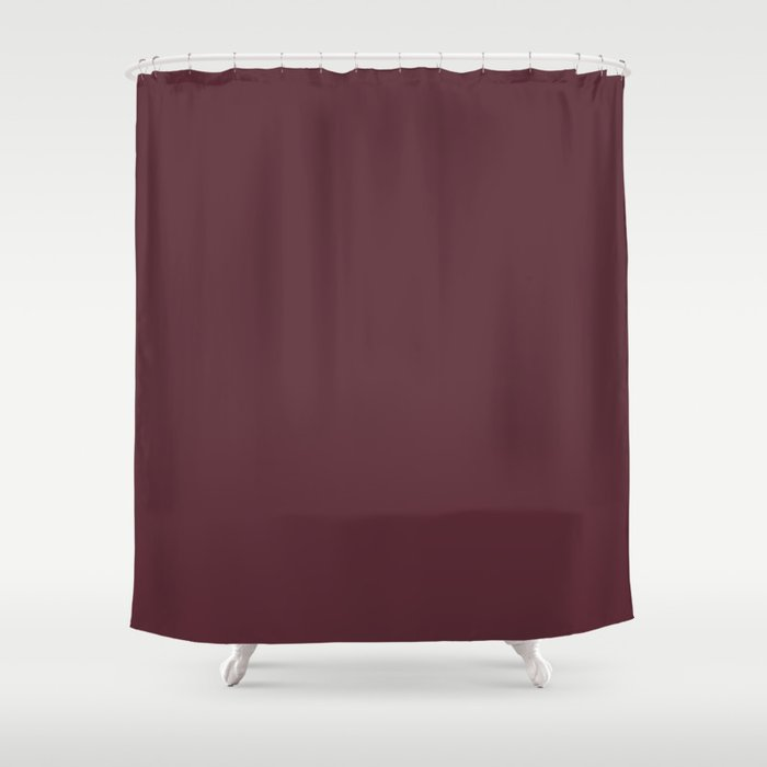 Pantone 19-1725 Tawny Port Shower Curtain