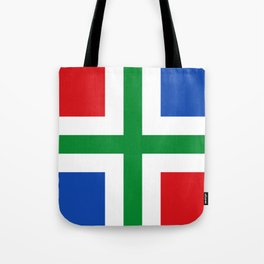 Flag of Groningen (province) Tote Bag